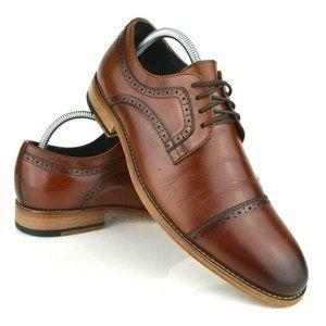 Stacy Adams Brown Cap Toe Brogue Oxfords sz 8